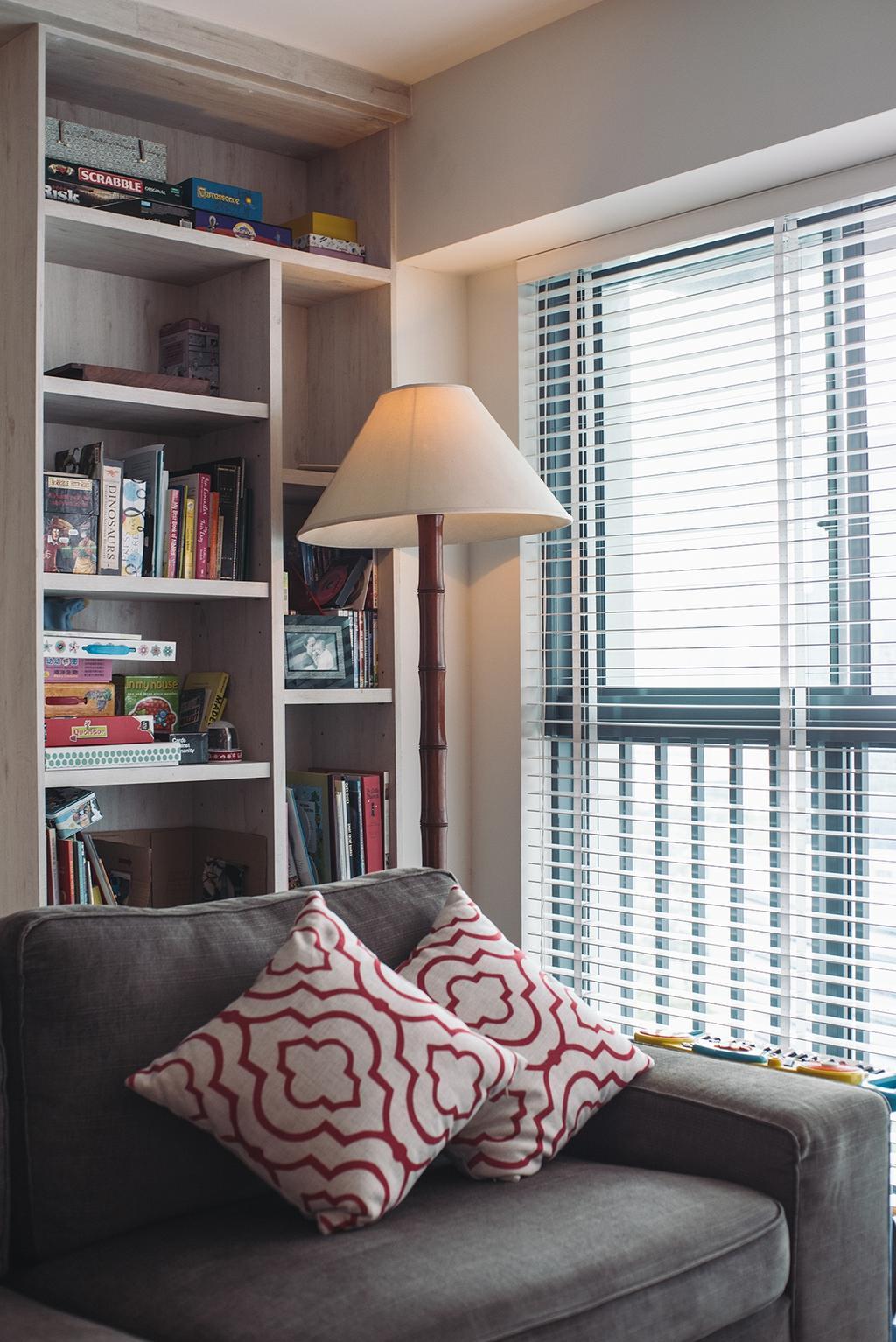 Contemporary, HDB, Living Room, Cantonment, Interior Designer, Urban Habitat Design, Retro, Shelf