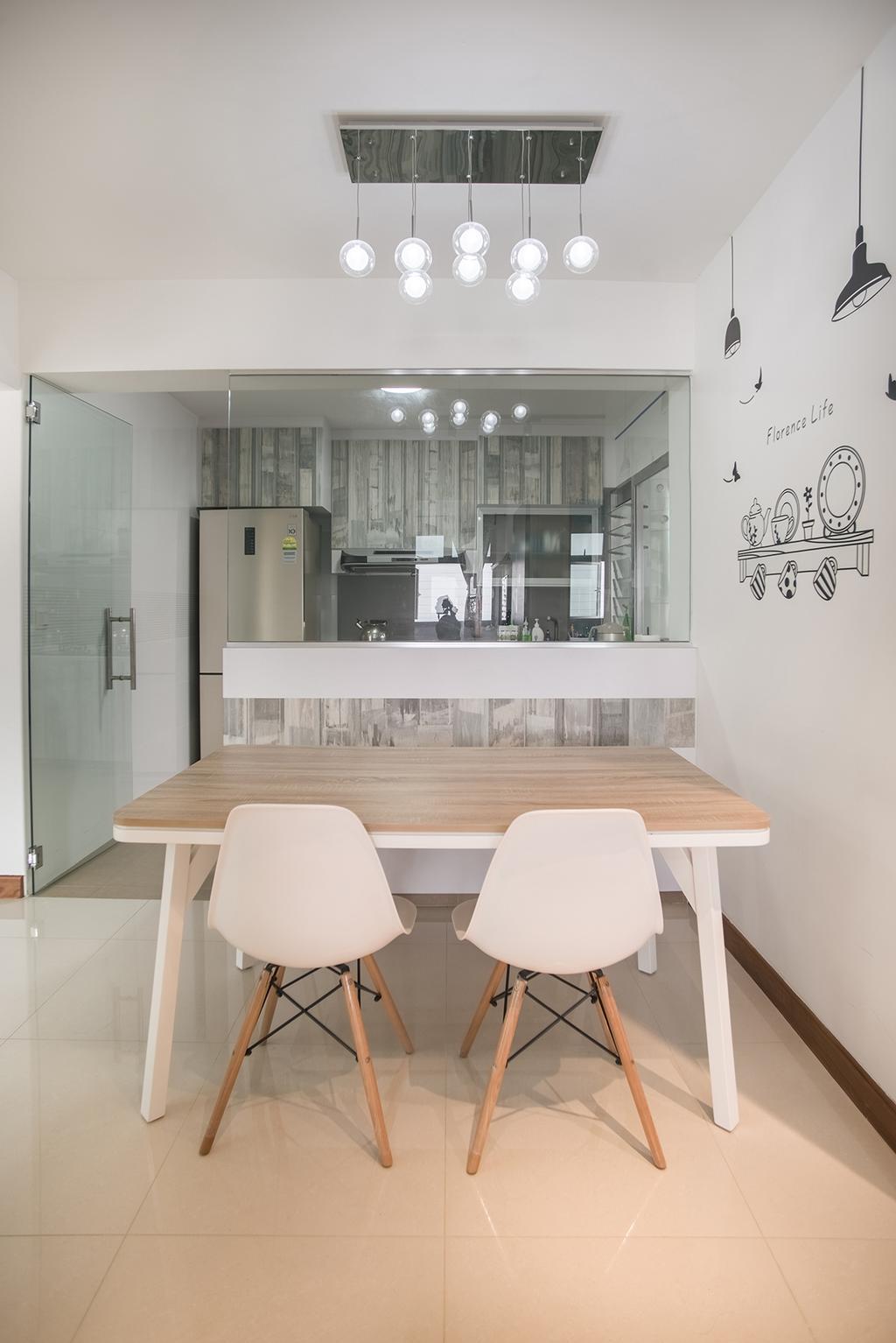 Modern, HDB, Dining Room, Telok Blangah Heights (Block 70C), Interior Designer, Urban Habitat Design, Dining Table, Furniture, Table, Indoors, Interior Design, Room, Chair