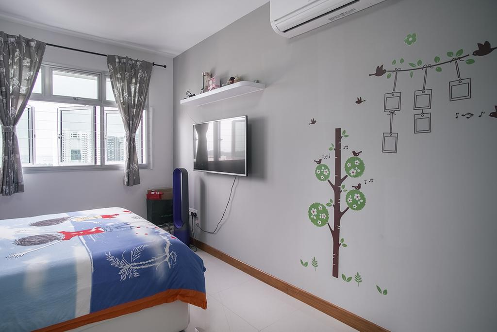 Modern, HDB, Bedroom, Telok Blangah Heights (Block 70C), Interior Designer, Urban Habitat Design, Appliance, Electrical Device, Microwave, Oven, Bed, Furniture, Indoors, Interior Design, Room, Home Decor, Linen, Tablecloth