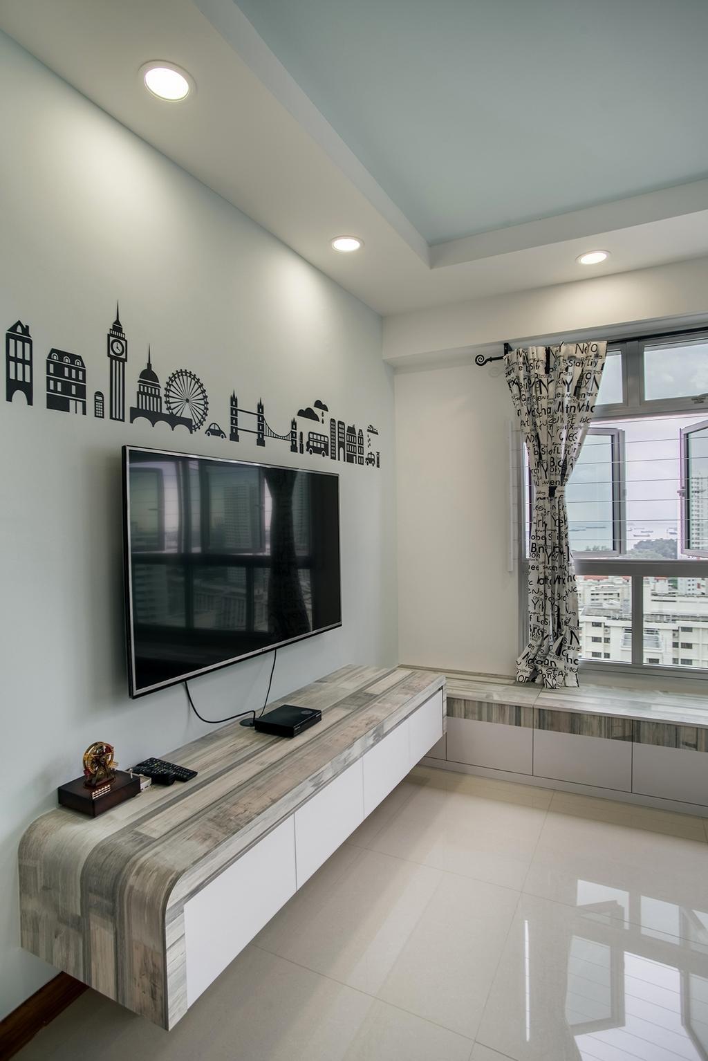 Modern, HDB, Living Room, Telok Blangah Heights (Block 70C), Interior Designer, Urban Habitat Design, Shelf