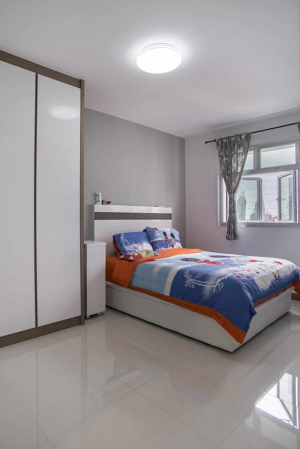 Modern, HDB, Bedroom, Telok Blangah Heights (Block 70C), Interior Designer, Urban Habitat Design, Bed, Furniture, Indoors, Interior Design, Room, Curtain, Home Decor