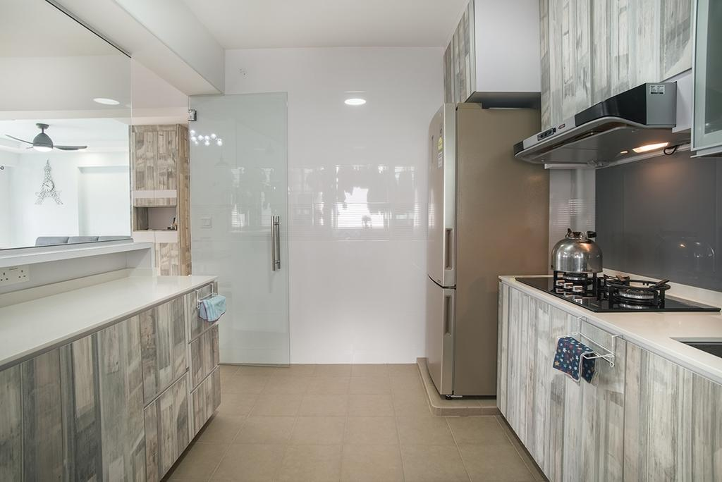 Modern, HDB, Kitchen, Telok Blangah Heights (Block 70C), Interior Designer, Urban Habitat Design, Indoors, Interior Design, Room