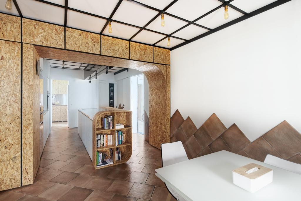 Eclectic, HDB, Dining Room, Bishan, Architect, asolidplan, Bookcase, Furniture, Indoors, Interior Design
