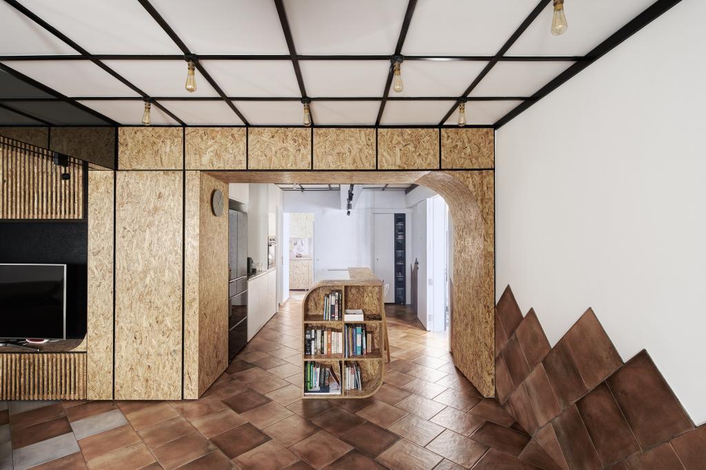 Eclectic, HDB, Kitchen, Bishan, Architect, asolidplan, Bookcase, Furniture