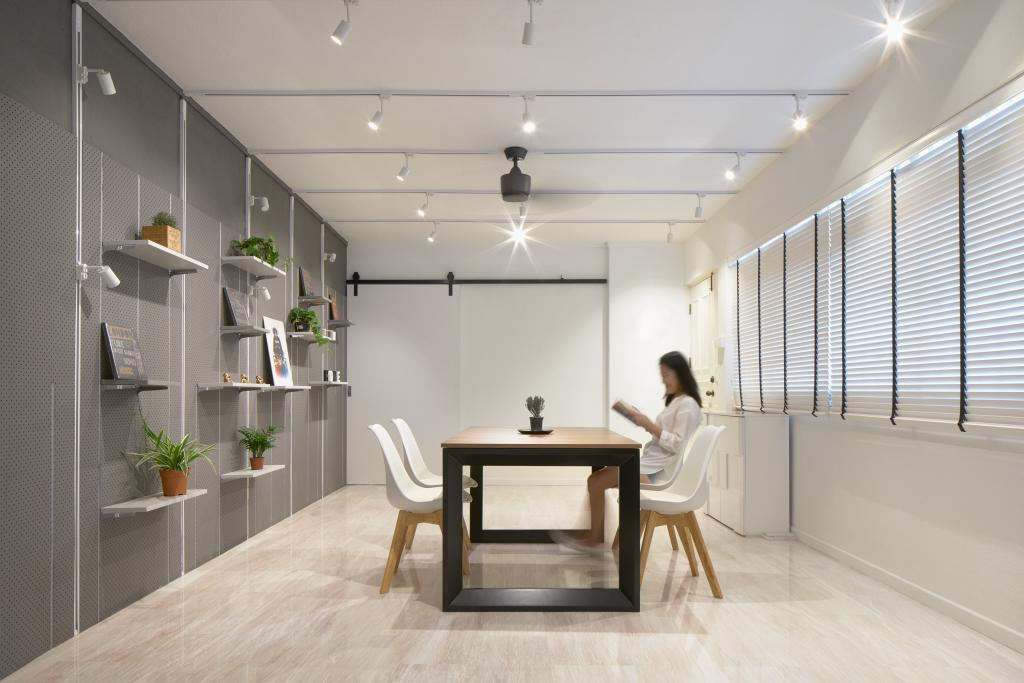 Minimalistic, HDB, Dining Room, Sengkang, Architect, asolidplan, Human, People, Person, Furniture, Indoors, Interior Design, Sitting