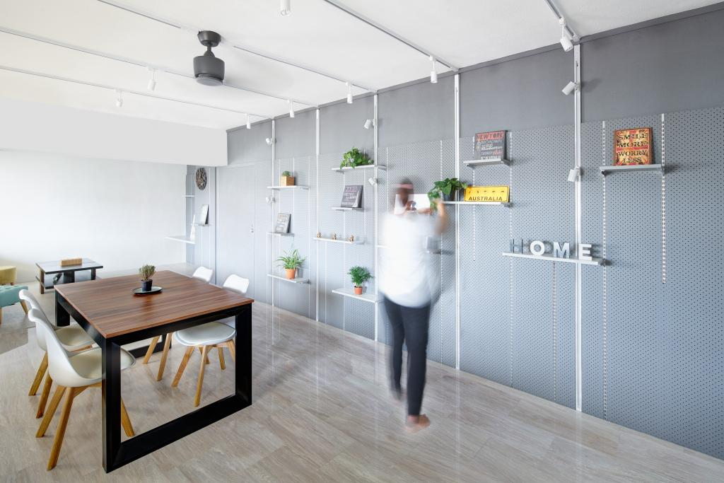 Minimalistic, HDB, Dining Room, Sengkang, Architect, asolidplan, Human, People, Person, Dining Table, Furniture, Table
