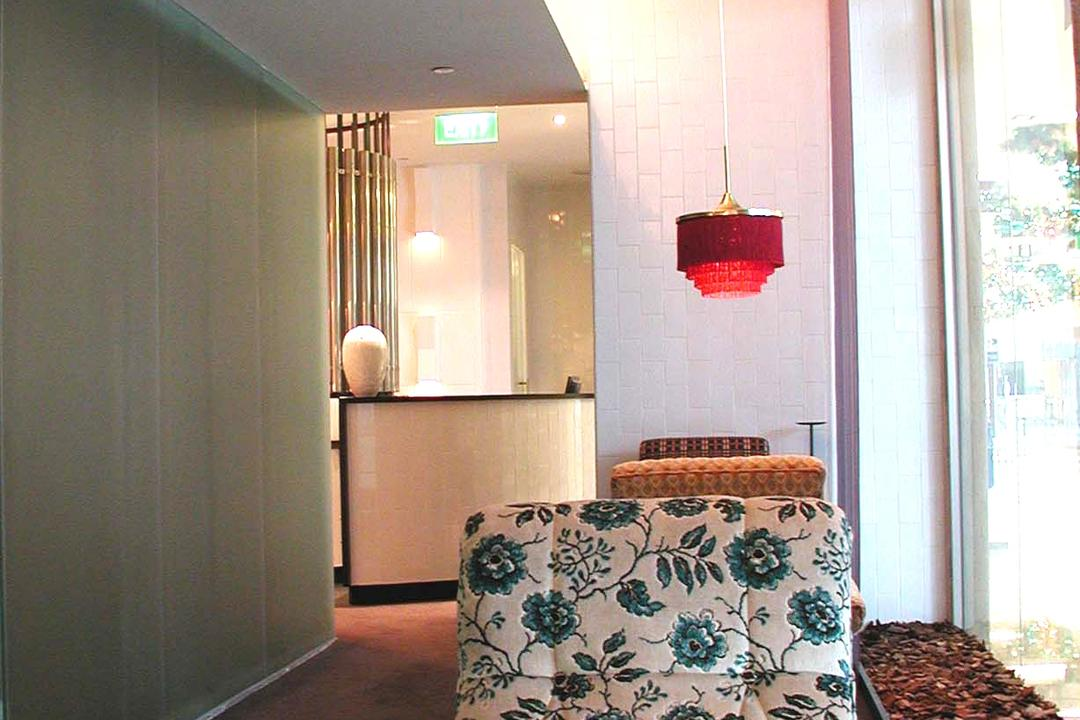 Spa Esprit, Wallflower Architecture + Design, Eclectic, Commercial, Waiting Room, Wait Corner, Lounge, Bedroom, Indoors, Interior Design, Room