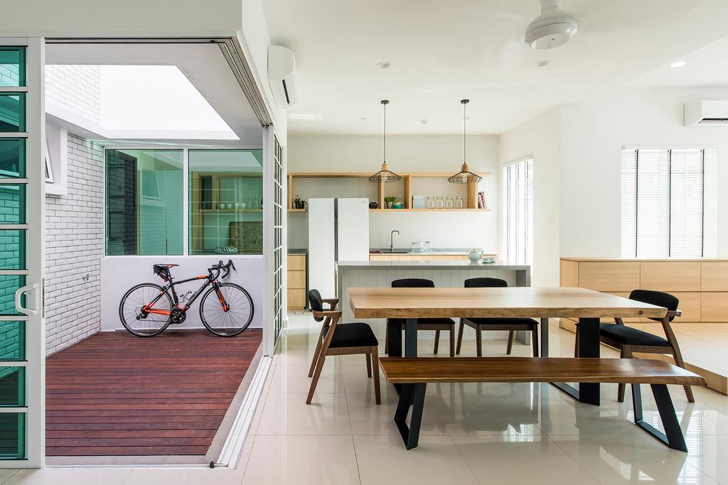 Minimalistic, Landed, Dining Room, Stafford, Setia Eco Glades, Interior Designer, Pocket Square, Dining Table, Furniture, Table, Bicycle, Bike, Transportation, Vehicle, Indoors, Interior Design, Room