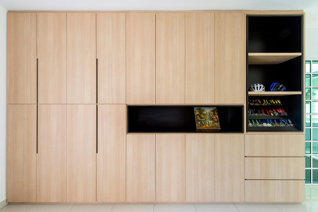 Minimalistic, Landed, Living Room, Stafford, Setia Eco Glades, Interior Designer, Pocket Square, Electronics, Entertainment Center