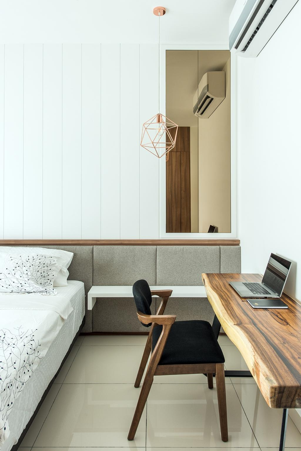 Minimalistic, Landed, Bedroom, Stafford, Setia Eco Glades, Interior Designer, Pocket Square, Computer, Electronics, Laptop, Pc, Chair, Furniture, Couch