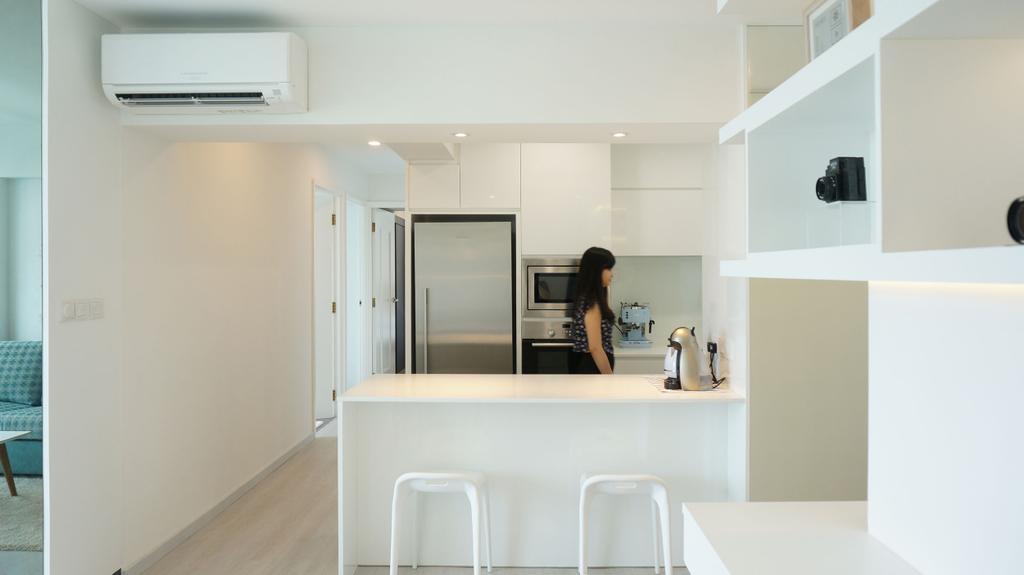 Scandinavian, Apartment, Kitchen, Eunos Court, Interior Designer, Ethnic ID, Indoors, Interior Design