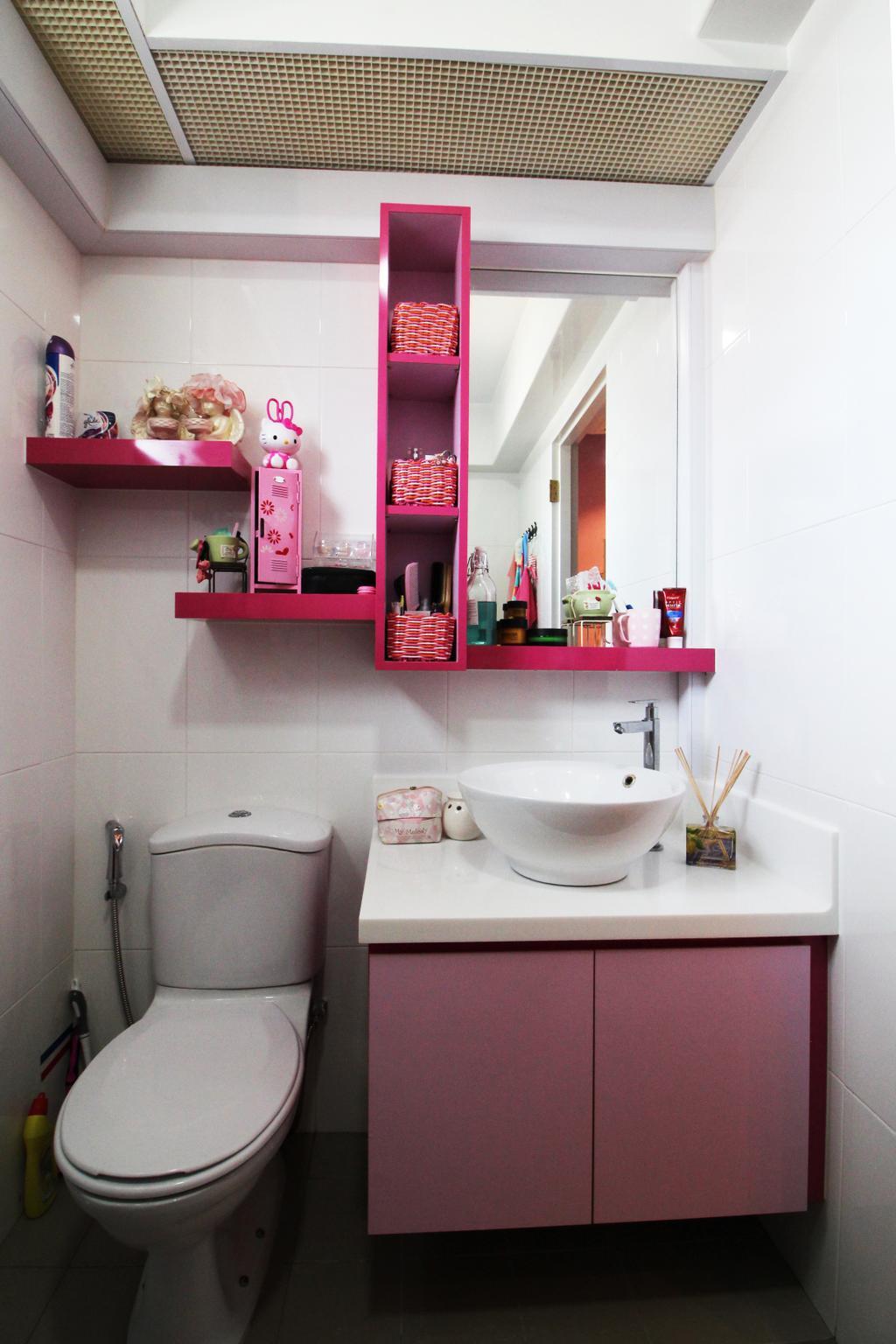 Modern, HDB, Bathroom, Compassvale Crescent, Interior Designer, Aestherior, Contemporary, Toy, Cake, Dessert, Food