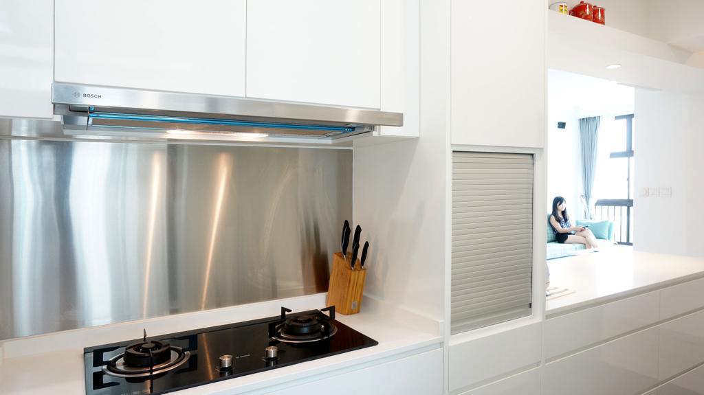 Scandinavian, Apartment, Kitchen, Eunos Court, Interior Designer, Ethnic ID