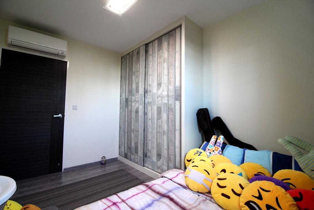 Modern, HDB, Bedroom, Compassvale Crescent, Interior Designer, Aestherior, Contemporary