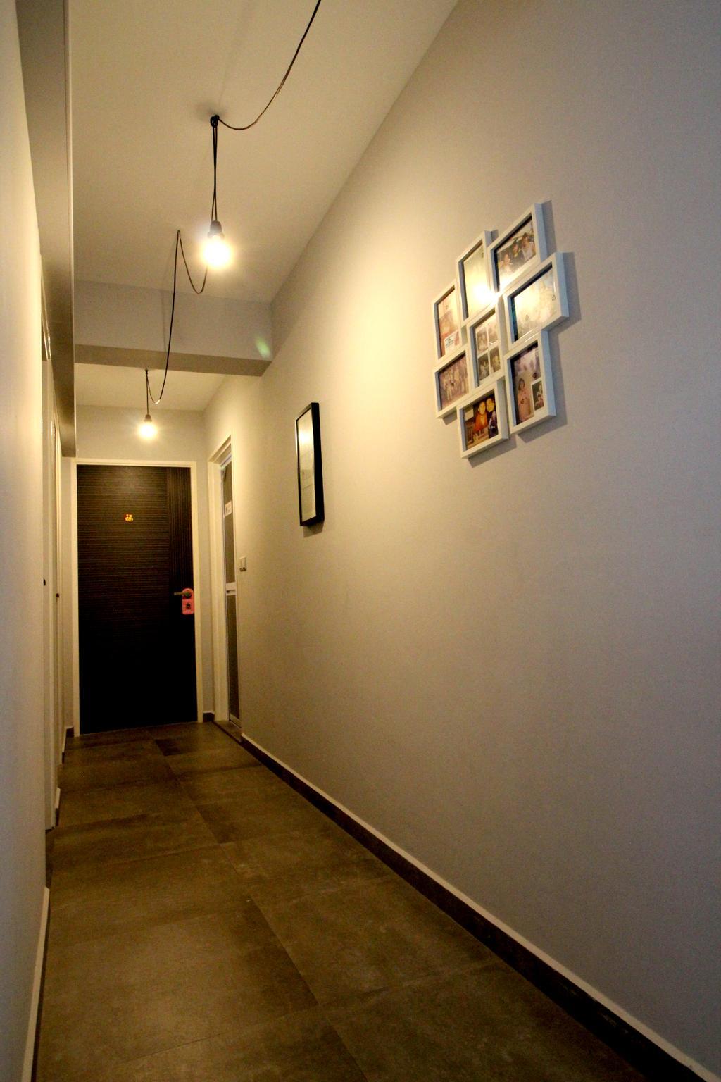 Modern, HDB, Bedroom, Compassvale Crescent, Interior Designer, Aestherior, Contemporary, Art, Art Gallery, Corridor, Floor