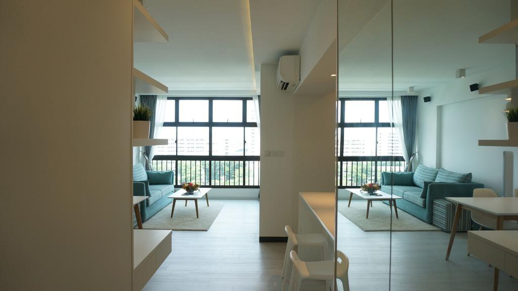 Scandinavian, Apartment, Living Room, Eunos Court, Interior Designer, Ethnic ID, Couch, Furniture, Chair, Indoors, Interior Design