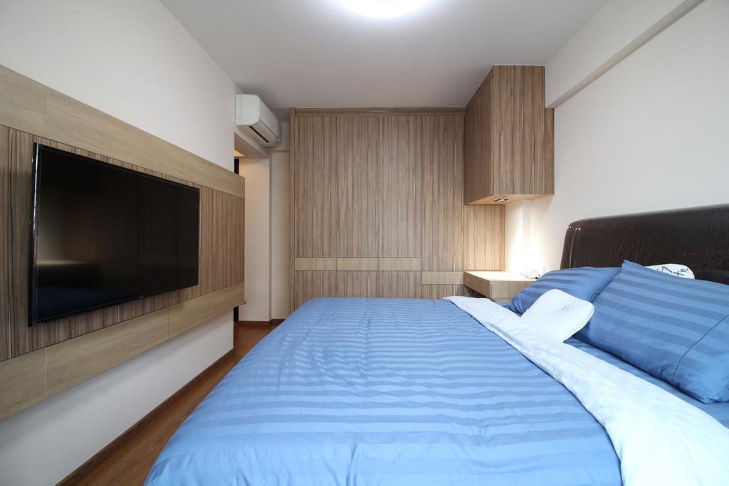 Modern, HDB, Bedroom, Fajar Road, Interior Designer, Aestherior, Bed, Furniture, Indoors, Room