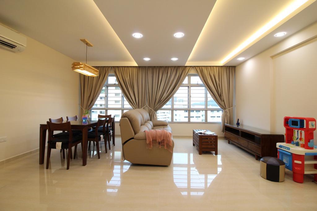 Modern, HDB, Living Room, Fajar Road, Interior Designer, Aestherior, Dining Table, Furniture, Table, Drawer, Flooring, Dining Room, Indoors, Interior Design, Room