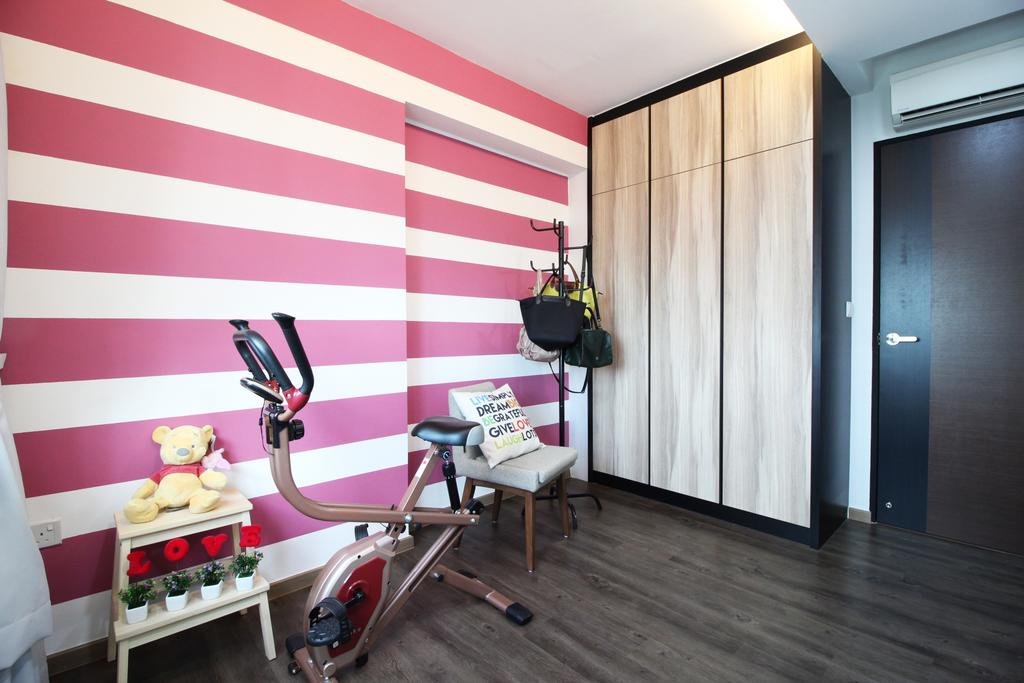 Modern, HDB, Study, Rivervale Crescent, Interior Designer, Aestherior, Traditional, Door, Corridor