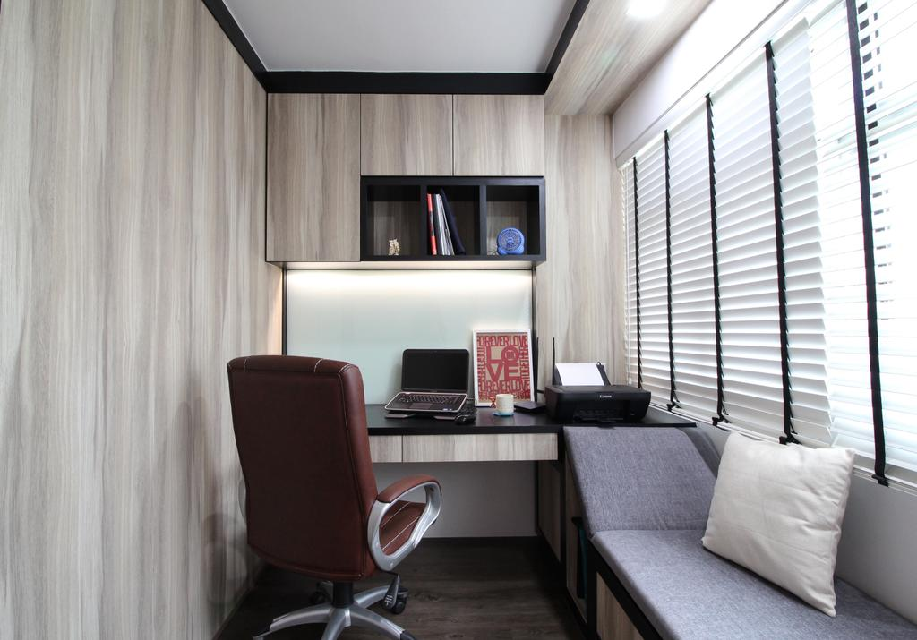 Modern, HDB, Study, Rivervale Crescent, Interior Designer, Aestherior, Traditional, Chair, Furniture