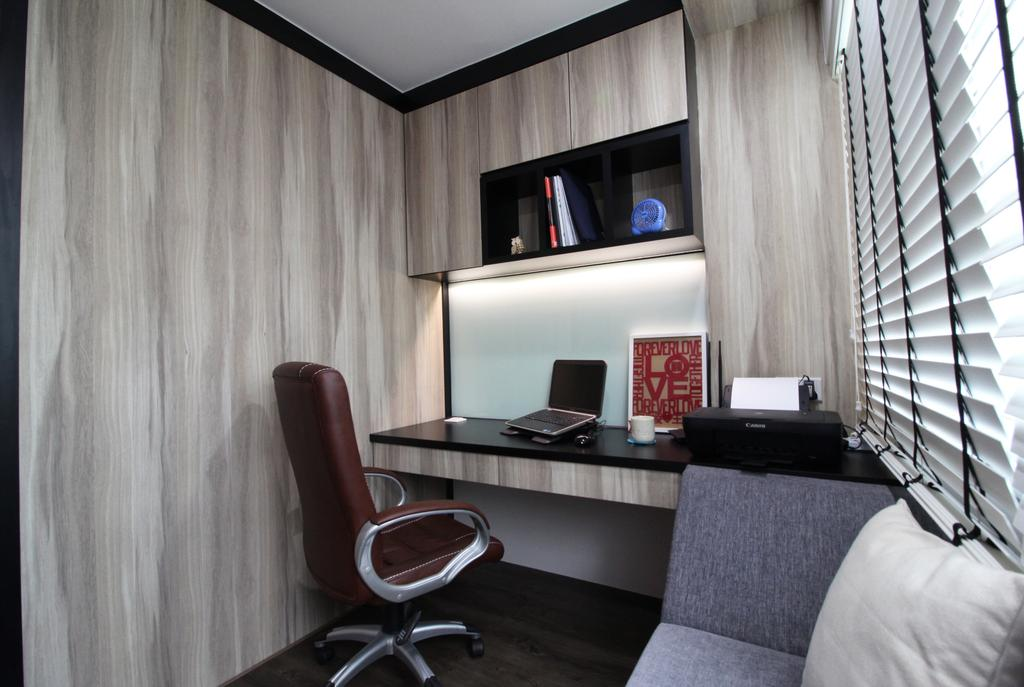 Modern, HDB, Study, Rivervale Crescent, Interior Designer, Aestherior, Traditional, Chair, Furniture