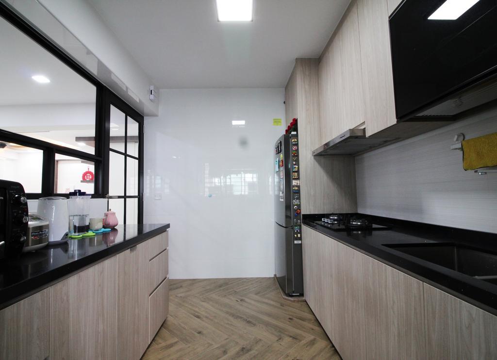 Modern, HDB, Kitchen, Rivervale Crescent, Interior Designer, Aestherior, Traditional