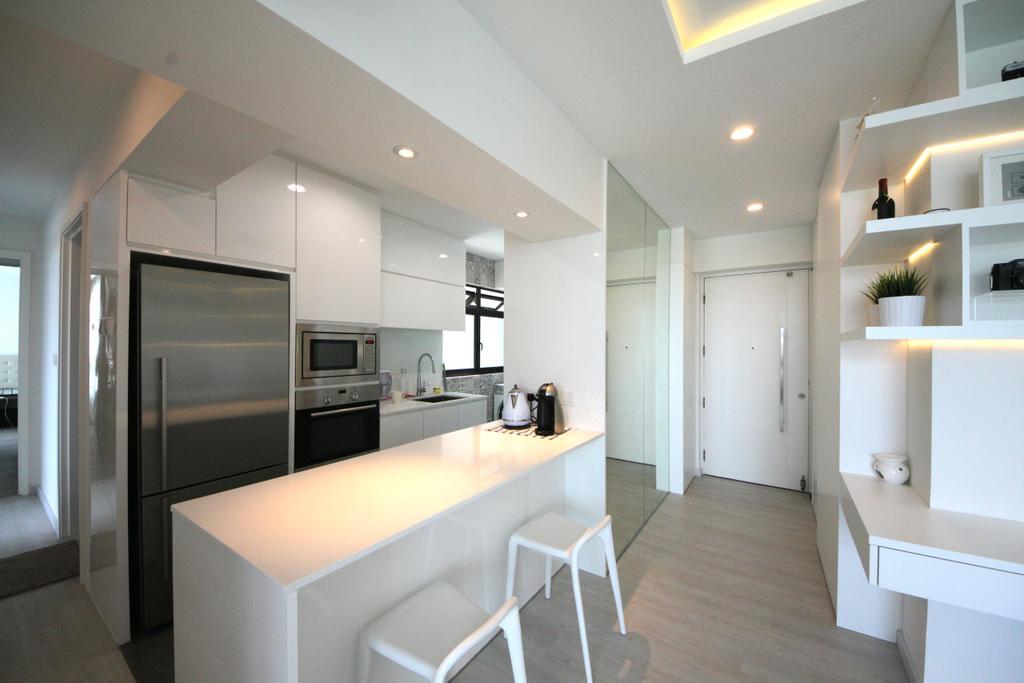 Scandinavian, Apartment, Kitchen, Eunos Court, Interior Designer, Ethnic ID, Dining Table, Furniture, Table, Indoors, Interior Design, Dining Room, Room
