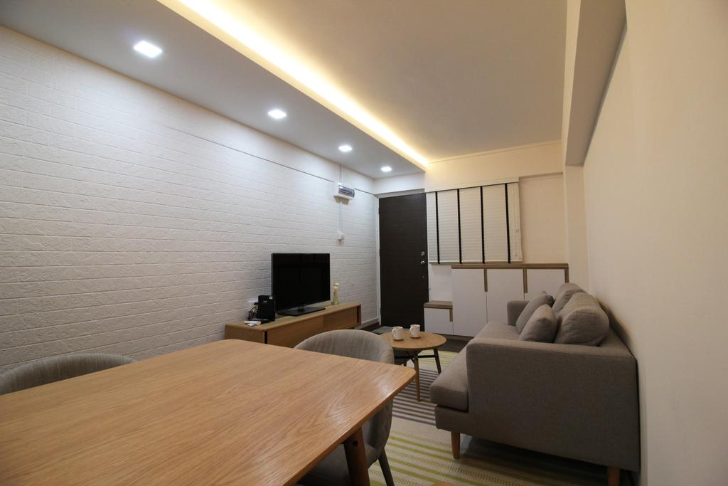 Contemporary, HDB, Dining Room, Upper Cross Street, Interior Designer, Aestherior, Modern, Couch, Furniture, Dining Table, Table, Building, Housing, Indoors