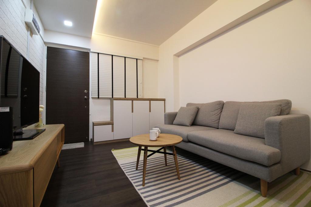 Contemporary, HDB, Living Room, Upper Cross Street, Interior Designer, Aestherior, Modern, Couch, Furniture, Indoors, Room, Bathroom, Interior Design