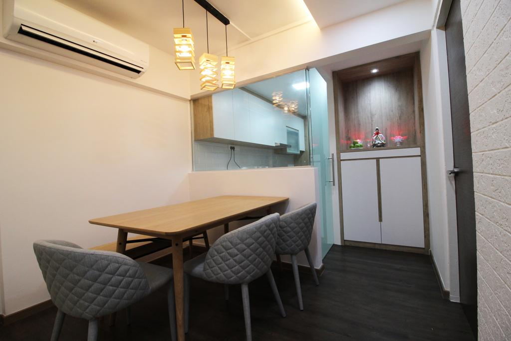 Contemporary, HDB, Dining Room, Upper Cross Street, Interior Designer, Aestherior, Modern, Chair, Furniture, Indoors, Interior Design, Room