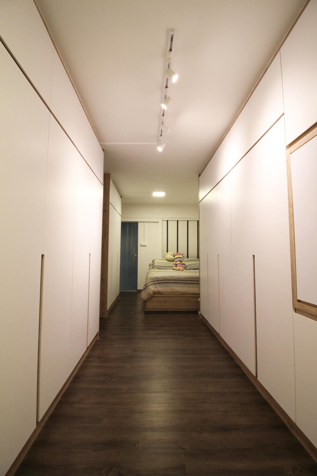 Contemporary, HDB, Bedroom, Upper Cross Street, Interior Designer, Aestherior, Modern, Flooring, Floor