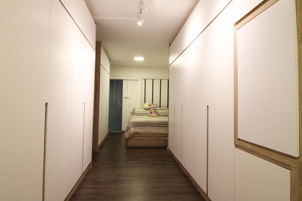 Contemporary, HDB, Bedroom, Upper Cross Street, Interior Designer, Aestherior, Modern, Flooring, Bed, Furniture, White Board