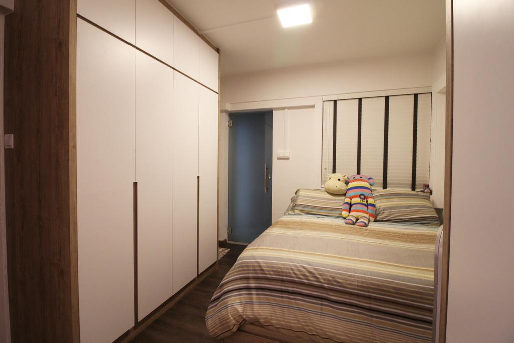 Contemporary, HDB, Bedroom, Upper Cross Street, Interior Designer, Aestherior, Modern, Bed, Furniture, Building, Housing, Indoors, Loft, Interior Design, Room
