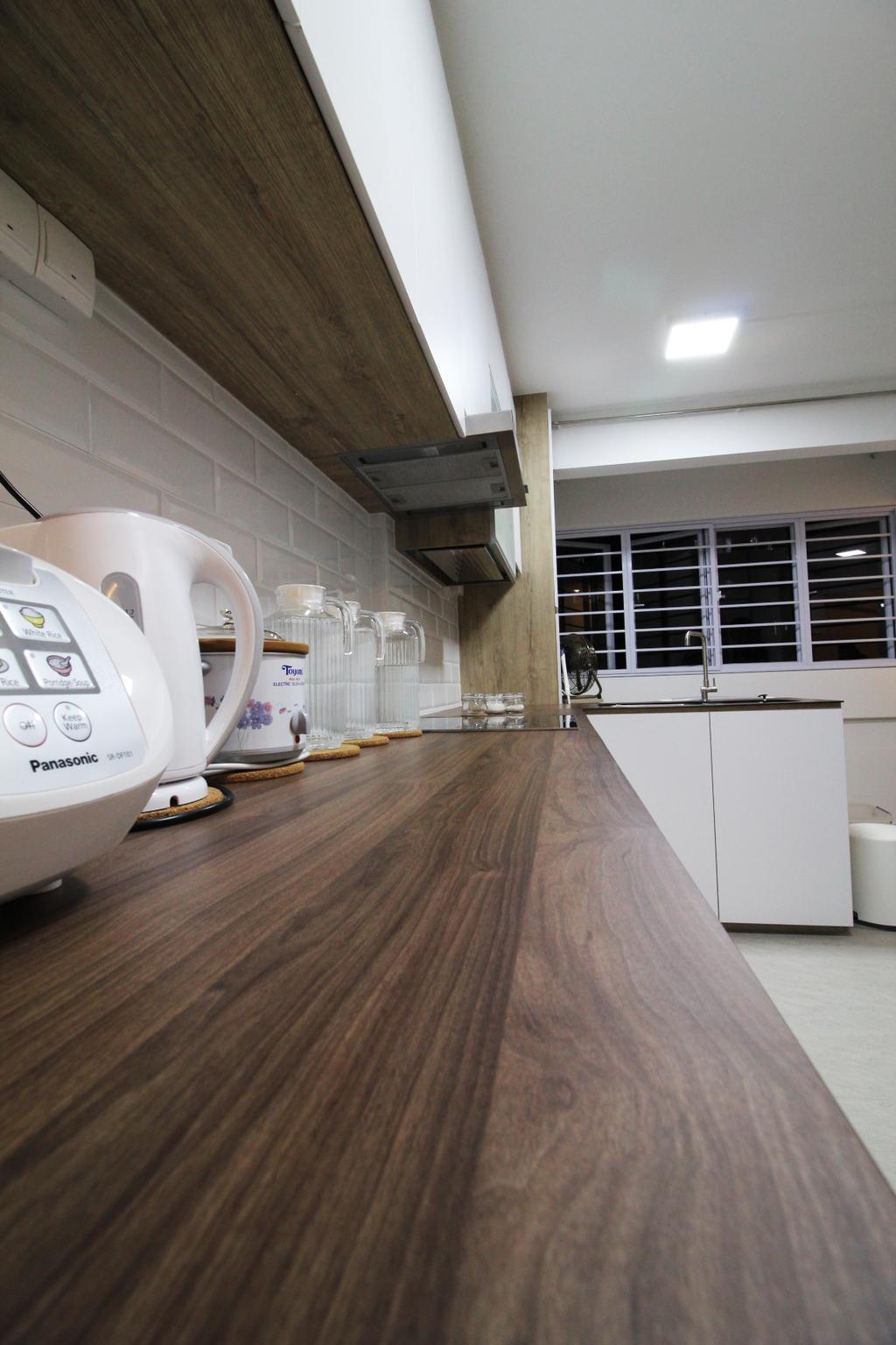 Contemporary, HDB, Kitchen, Upper Cross Street, Interior Designer, Aestherior, Modern