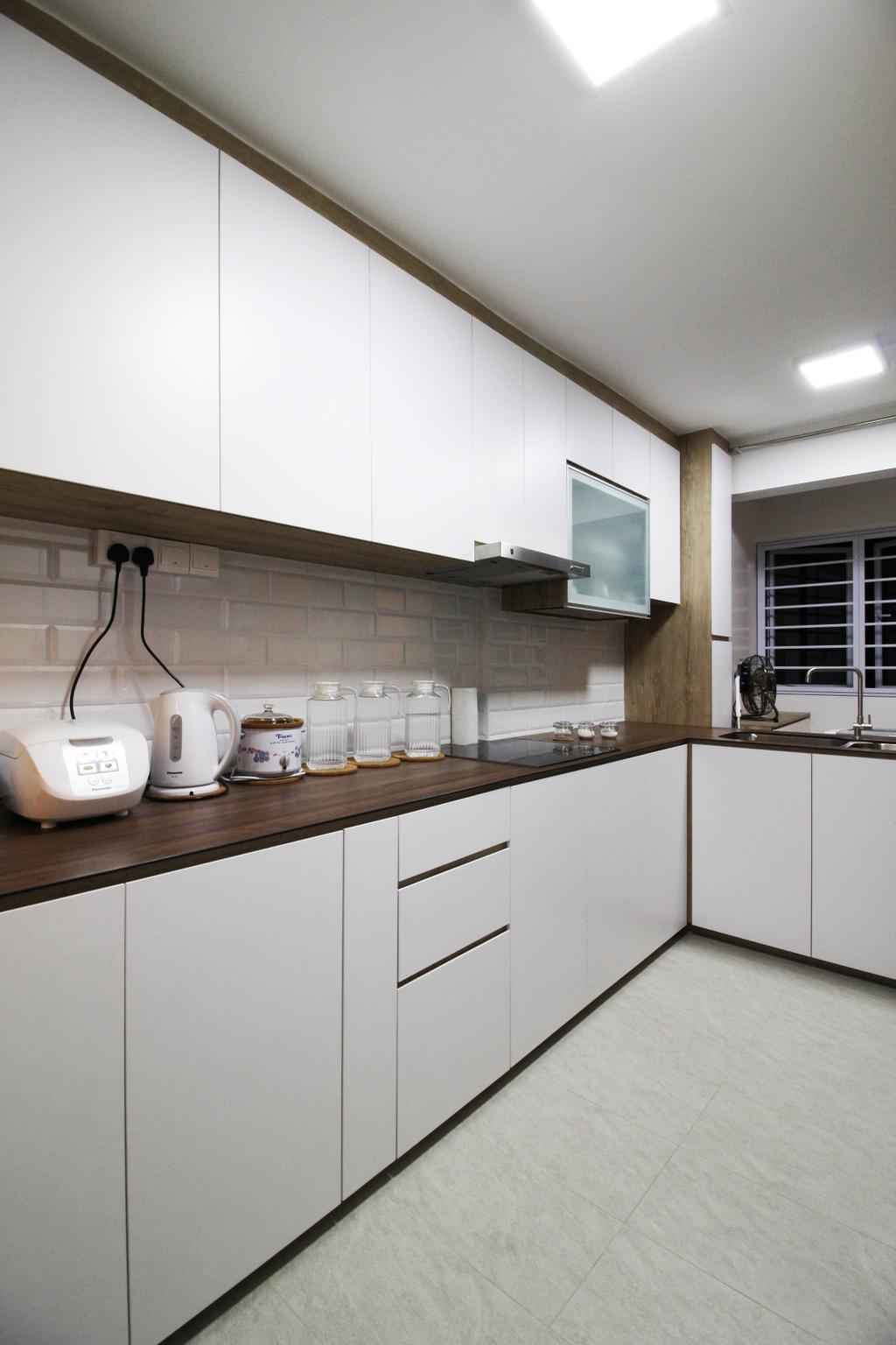 Contemporary, HDB, Kitchen, Upper Cross Street, Interior Designer, Aestherior, Modern, Furniture, Sideboard, Indoors, Interior Design, Room