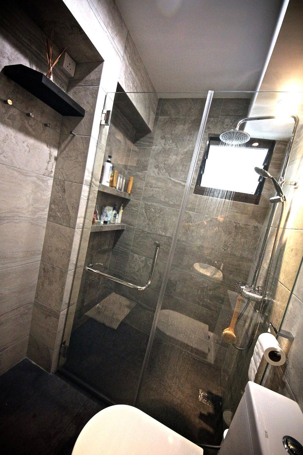 Scandinavian, Apartment, Bathroom, Eunos Court, Interior Designer, Ethnic ID, Indoors, Interior Design, Room