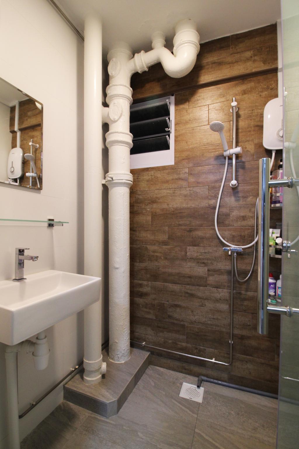 Contemporary, HDB, Bathroom, Upper Cross Street, Interior Designer, Aestherior, Modern, Sink