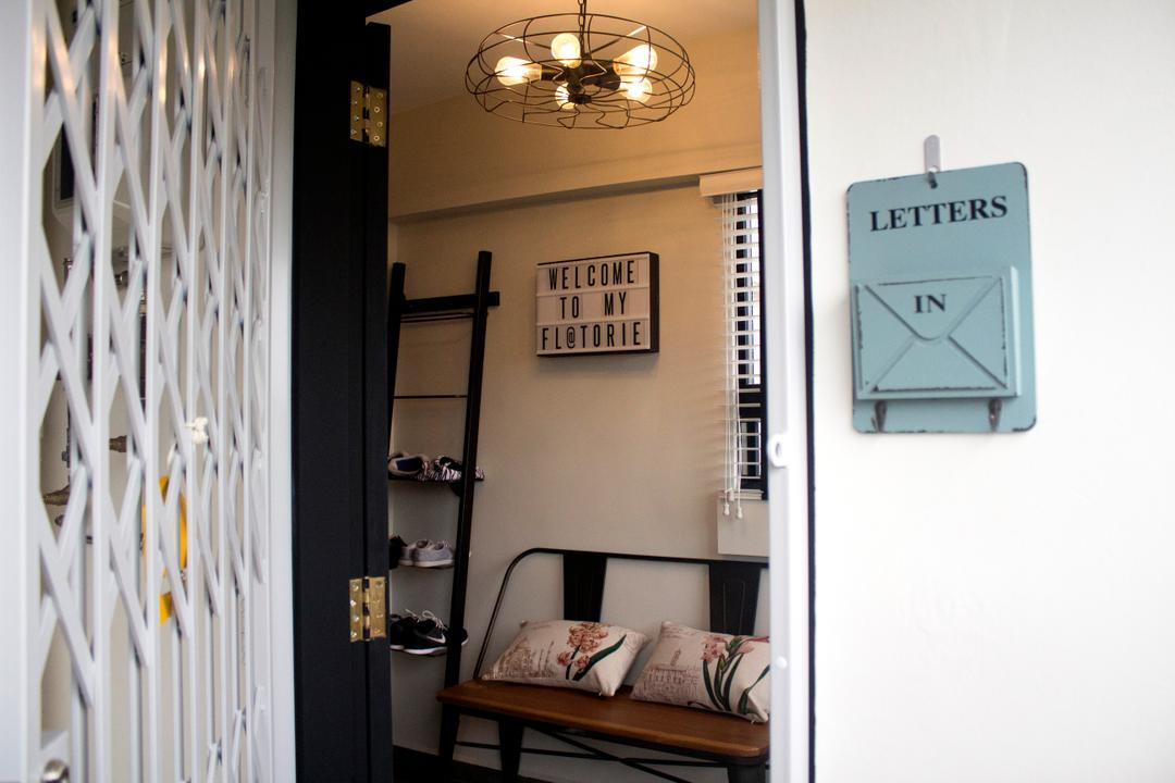 Yishun Ring Road, Aestherior, Industrial, Living Room, HDB, Clock, Wall Clock