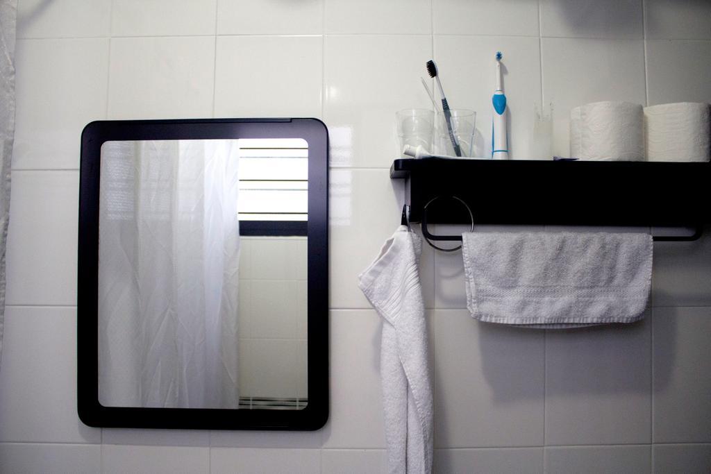 Industrial, HDB, Bathroom, Yishun Ring Road, Interior Designer, Aestherior, Towel