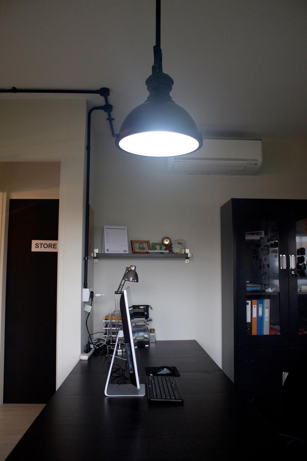Industrial, HDB, Study, Yishun Ring Road, Interior Designer, Aestherior