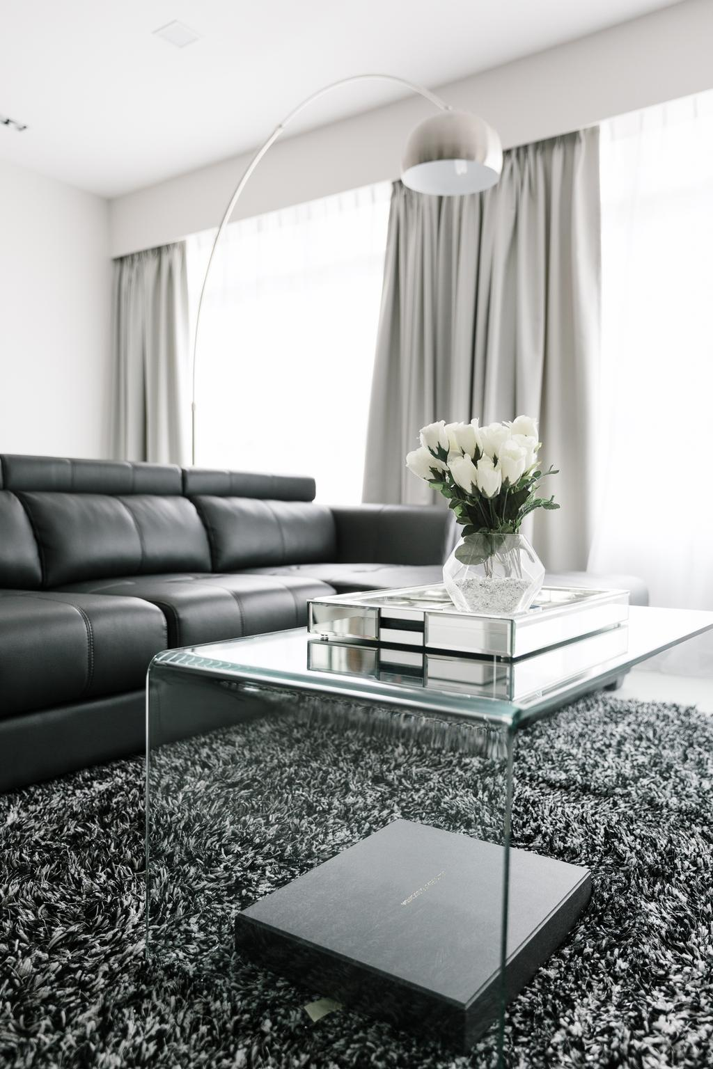 Modern, HDB, Sumang Walk, Interior Designer, Corazon Interior, Couch, Furniture, Indoors, Room, Blossom, Flora, Flower, Flower Arrangement, Ornament, Plant