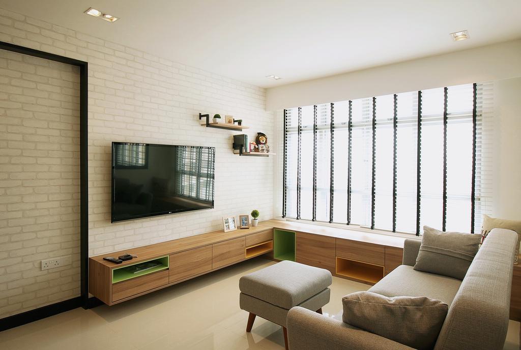 Scandinavian, HDB, Living Room, Fajar Road (Block 443C), Interior Designer, ChanInteriors, Couch, Furniture, Indoors, Interior Design, Chair