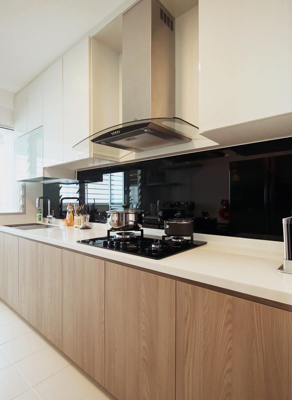 Scandinavian, HDB, Kitchen, Fajar Road (Block 443C), Interior Designer, ChanInteriors, Indoors, Interior Design, Room