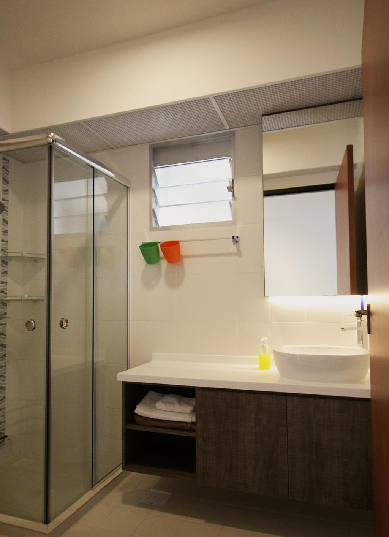 Scandinavian, HDB, Bathroom, Fajar Road (Block 443C), Interior Designer, ChanInteriors, Indoors, Interior Design, Room