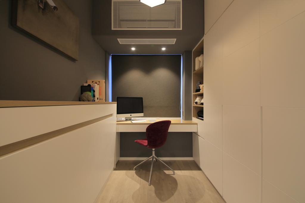 摩登, 私家樓, 書房, 羅便臣道, 室內設計師, Winco Premier Interior Design, Chair, Furniture, 公屋/居屋, Building, Housing, Indoors, Loft, Architecture, Skylight, Window, Lighting