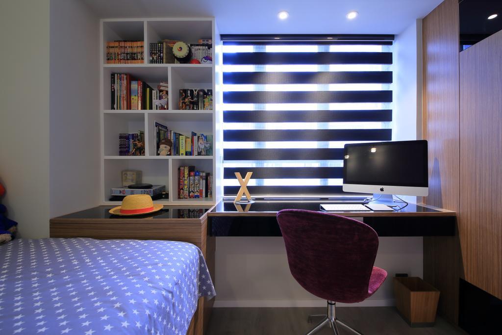 摩登, 私家樓, 睡房, 羅便臣道, 室內設計師, Winco Premier Interior Design, Chair, Furniture, Electronics, Monitor, Screen, Tv, Television