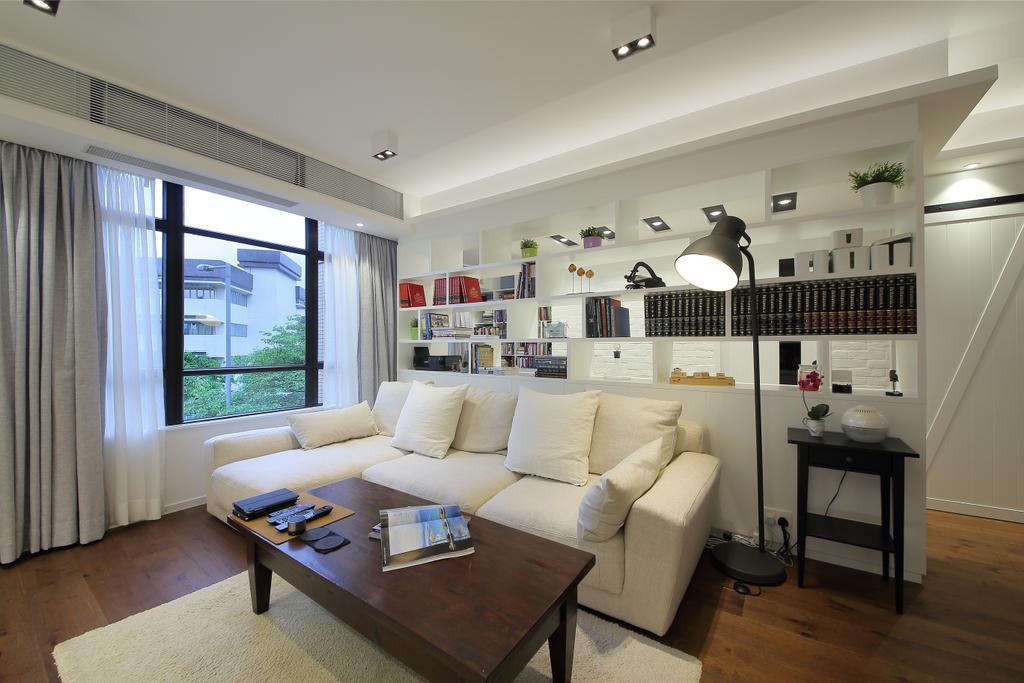 摩登, 私家樓, 客廳, 怡德花園, 室內設計師, Winco Premier Interior Design, Couch, Furniture, Indoors, Room