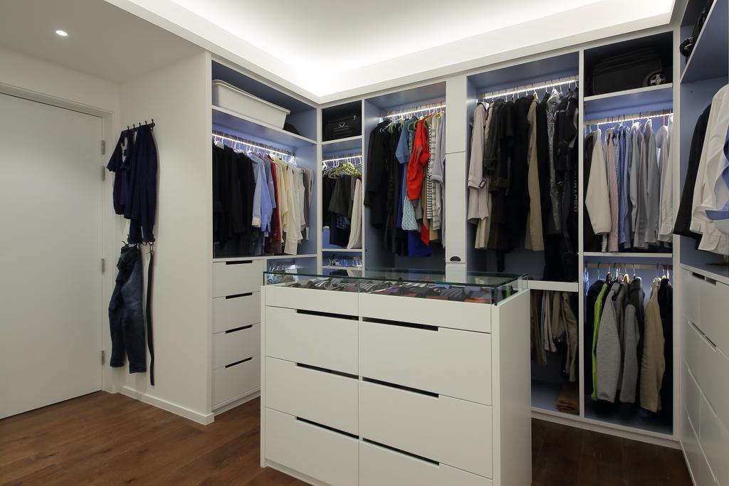 摩登, 私家樓, 怡德花園, 室內設計師, Winco Premier Interior Design, Closet, Furniture, Wardrobe