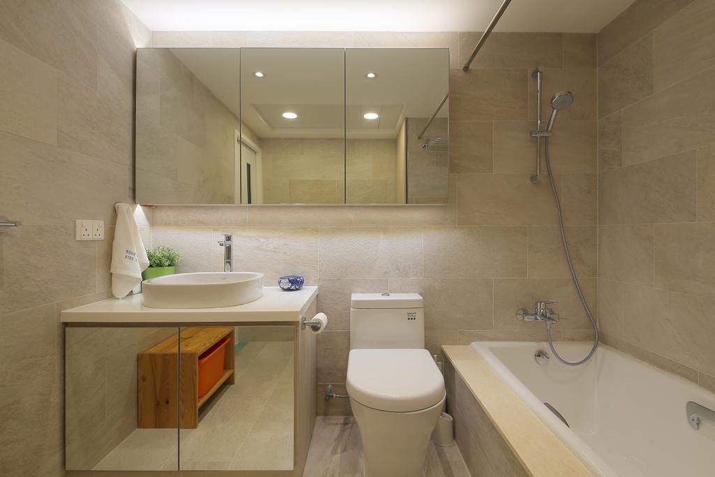 摩登, 私家樓, 浴室, 怡德花園, 室內設計師, Winco Premier Interior Design, Toilet, Indoors, Interior Design, Room