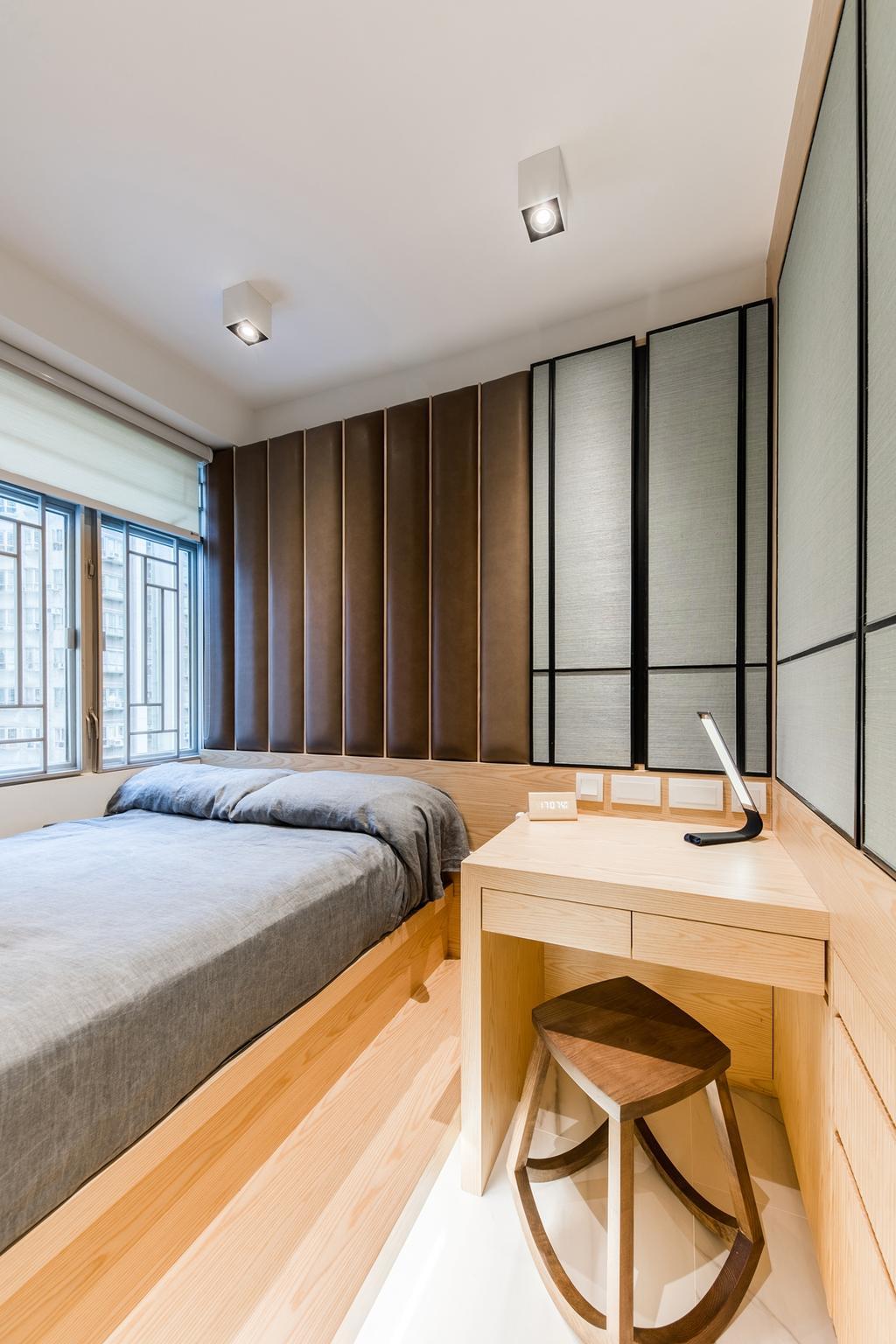 當代, 私家樓, 睡房, 華翠園, 室內設計師, BC+ Design Studio, 傳統, Bed, Furniture, Indoors, Interior Design